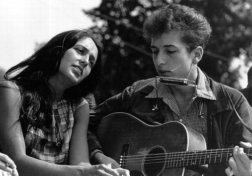 Getty Images - Bob Dylan e Joan Baez