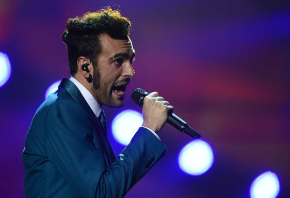 Italy's  Marco Mengoni performs during the final of the 2013 Eurovision Song Contest in Malmo, Sweden, on May 18, 2013. AFP PHOTO AFP PHOTO / JOHN MACDOUGALL        (Photo credit should read JOHN MACDOUGALL/AFP/Getty Images)