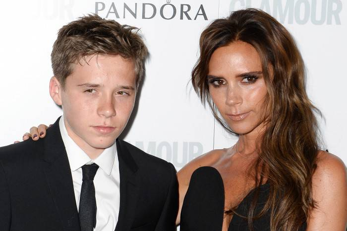 LONDON, ENGLAND - JUNE 04:  Brooklyn Beckham and Victoria Beckham attend Glamour Women of the Year Awards 2013 at Berkeley Square Gardens on June 4, 2013 in London, England.  (Photo by Gareth Cattermole/Getty Images)