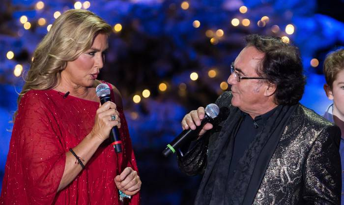 MUNICH, GERMANY - NOVEMBER 27:  Italian pop duo Al Bano and Romina Power perform at the taping of the TV show 'Heiligabend mit Carmen Nebel' on November 27, 2014 in Munich, Germany.  (Photo by Joerg Koch/Getty Images)