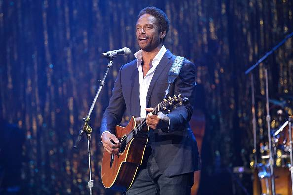 HOLLYWOOD, CA - OCTOBER 06:  Actor Gary Dourdan performs onstage at the 14th Annual Les Girls at Avalon on October 6, 2014 in Hollywood, California.  (Photo by Imeh Akpanudosen/Getty Images)
