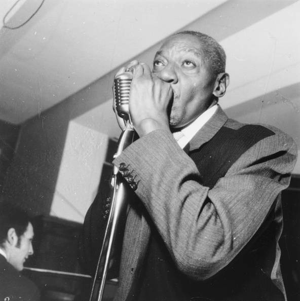 Musician Sonny Boy Williamson performing the harmonica on stage, November 18th 1964. (Photo by Pace/Hulton Archive/Getty Images)