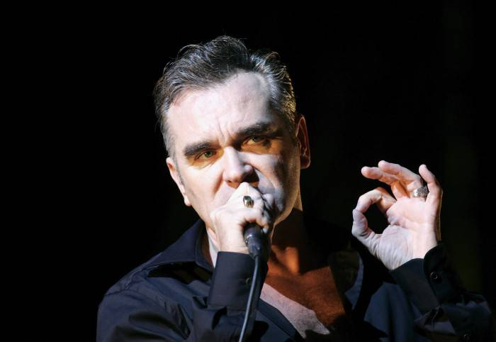 CHELMSFORD - AUGUST 20: Morrissey performs at the V Festival In Hylands Park on August 20, 2006 in Chelmsford, England. (Photo by Jo Hale/Getty Images)