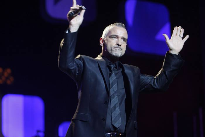 BARCELONA, SPAIN - NOVEMBER 29:  Eros Ramazzotti performs on stage during the 59th Ondas Awards 2012 at the Gran Teatre del Liceu on November 29, 2012 in Barcelona, Spain.  (Photo by Miquel Benitez/Getty Images)
