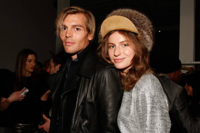 NEW YORK, NY - NOVEMBER 05:  Tali Lennox (R) and Ian Jones attend the French Connection Spring/Summer 2015 Collection Preview Party at Michelson Studio on November 5, 2014 in New York City.  (Photo by JP Yim/Getty Images)