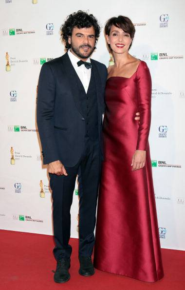 ROME, ITALY - JUNE 14: Singer Francesco Renga and wife actress Ambra Angiolini attend 2013 Premi David di Donatello Ceremony Awards at Dear RAI Studios on June 14, 2013 in Rome, Italy.  (Photo by Elisabetta Villa/Getty Images)