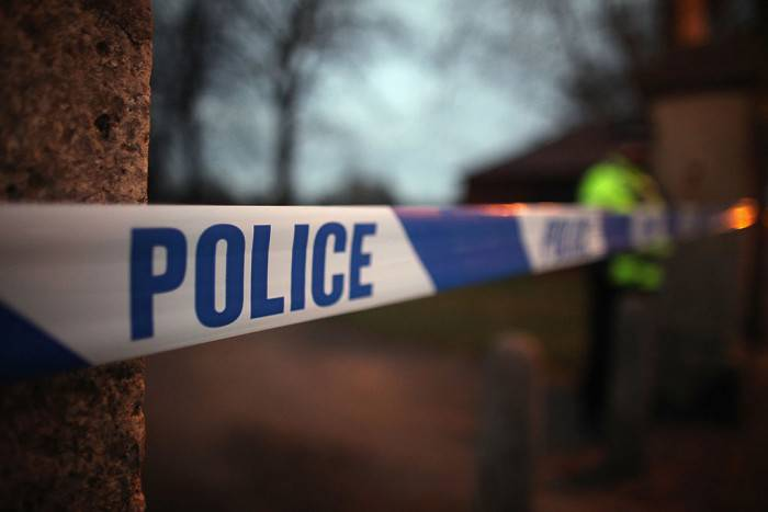 DONCASTER, ENGLAND - FEBRUARY 15:  A police cordon seals off Elmfield Park, Doncaster, following the death of a 13-year-old girl on February 15, 2012 in Doncaster, England. Police investigating the murder are questioning a 26year-old woman who remains in police custody.  (Photo by Christopher Furlong/Getty Images)