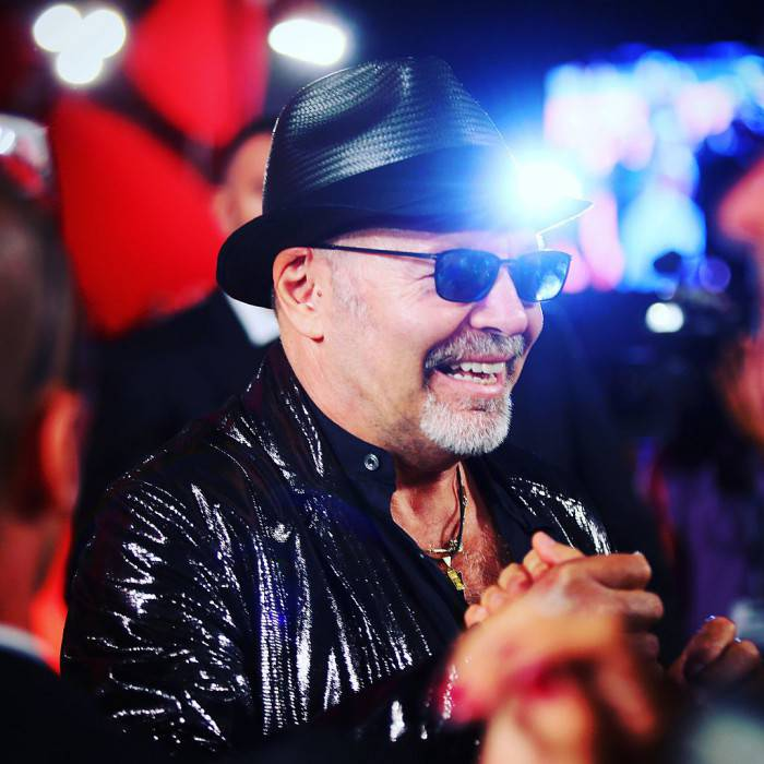 VENICE, ITALY - SEPTEMBER 11:  (EDITORS NOTE: Image was altered with digital filters.) Vasco Rossi attends a premiere for 'Per Amor Vostro' during the 72nd Venice Film Festival at Sala Grande on September 11, 2015 in Venice, Italy. (Photo by Ernesto Ruscio/Getty Images)