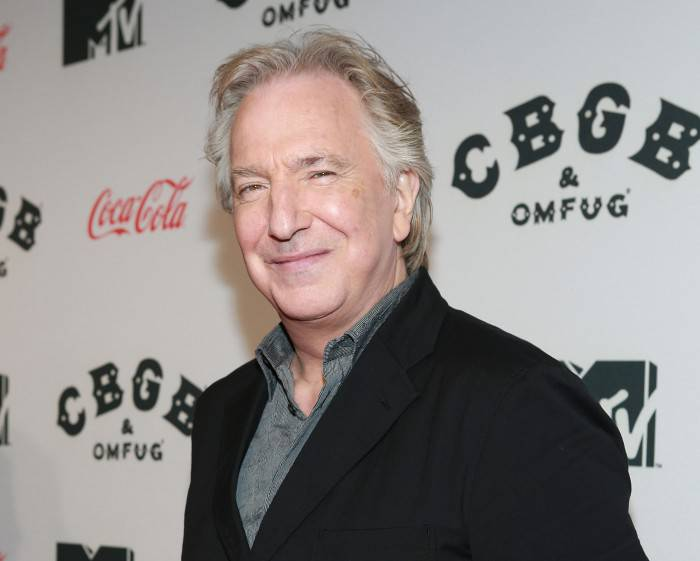 NEW YORK, NY - OCTOBER 08:  Actor Alan Rickman attends CBGB US Premiere Opening Night CBGB Music and Film Festival 2013 at Landmark Sunshine Cinema on October 8, 2013 in New York City.  (Photo by Robin Marchant/Getty Images for Unclaimed Freight Productions)