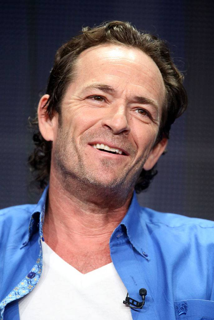 BEVERLY HILLS, CA - JULY 30:  Executive producer/actor Luke Perry speaks onstage during the 'Welcome Home' panel discussion at the UP Entertainment portion of the 2015 Summer TCA Tour at The Beverly Hilton Hotel on July 30, 2015 in Beverly Hills, California.  (Photo by Frederick M. Brown/Getty Images)