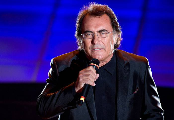 SAN REMO, ITALY - FEBRUARY 17:  Albano Carrisi is shown onstage on opening night of the 59th San Remo Song Festival (Festival della Canzone Italiana) at the Ariston Theatre on February 17, 2009 in San Remo, Italy.  (Photo by Elisabetta Villa/Getty Images)