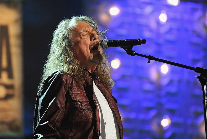 NASHVILLE, TN - SEPTEMBER 17:  Robert Plant performs onstage at the 13th annual Americana Music Association Honors and Awards Show at the Ryman Auditorium on September 17, 2014 in Nashville, Tennessee.  (Photo by Erika Goldring/Getty Images for Americana Music)