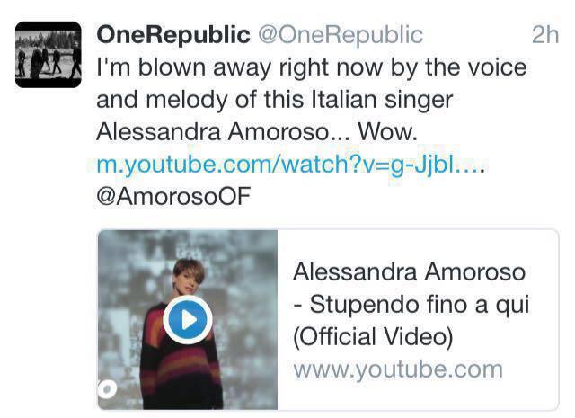 ScreenShot OneRepublic Amoroso