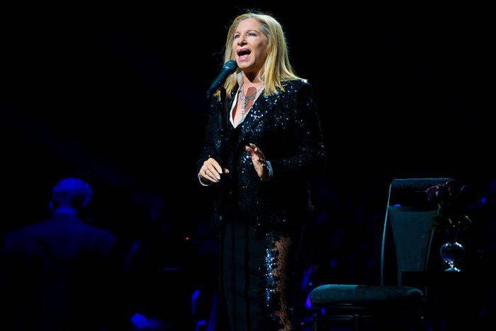 PHILADELPHIA, PA - OCTOBER 8: Barbra Streisand performs on the opening night of her 'Back To Brooklyn' tour at the Wells Fargo Center on October 8, 2012 in Philadelphia, Pennsylvania. (Photo by Jeff Fusco/Getty Images)