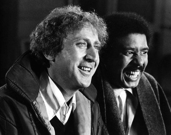 American comic actor Gene Wilder, originally Jerry Silkman stars with nightclub comedian Richard Pryor in the action comedy 'Silver Streak'. Directed by Arthur Hiller, the film was chosen for the 31st Royal Film Festival.   (Photo by Hulton Archive/Getty Images)